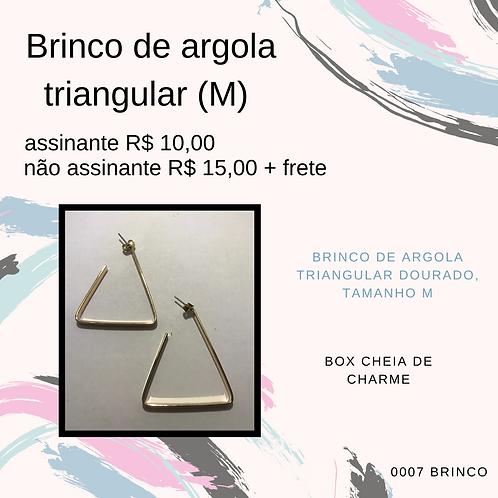 Brinco de argola triangular (M)