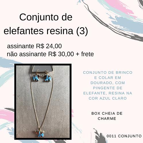 Conjunto de elefantes resina (3)