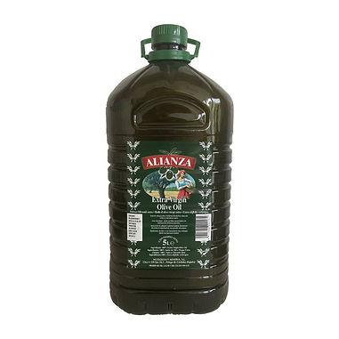 EXTRA VIRGIN OLIVE OIL 5 LITER PET ALIANZA SPAIN