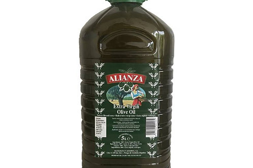 EXTRA VIRGIN OLIVE OIL 5 LITER PET ALIANZA SPAIN