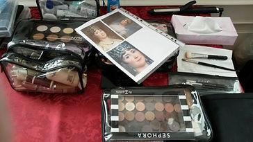 Makeup für Filmdreh