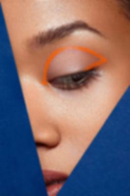 Beautyeditorial orange und blau