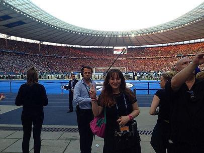 Peggy Passehl Im Olympiastadion beim UEFA Champions League Finale 2015der