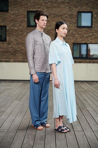 Frau und Mann in Brachmann Kleidung