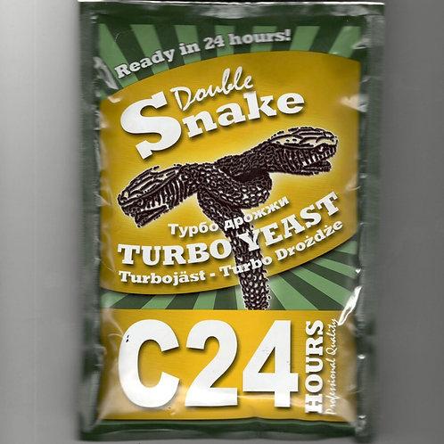 ТУРБО ДРОЖЖИ СПИРТОВЫЕ DOUBLE SNAKE C24, 175 гр