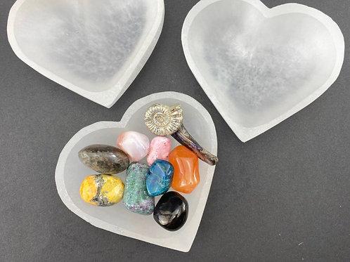 Heart Shaped Selenite Bowl