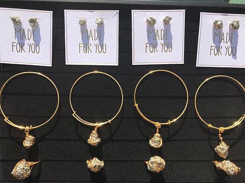 Pyrite Manifestation Money Ring / Earrings / Bracelet