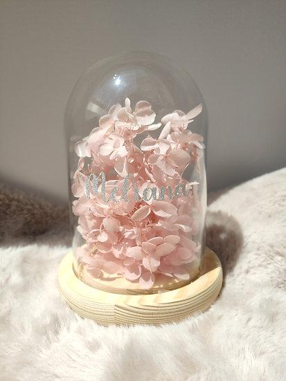 Veilleuse de verre fleurs éternelles