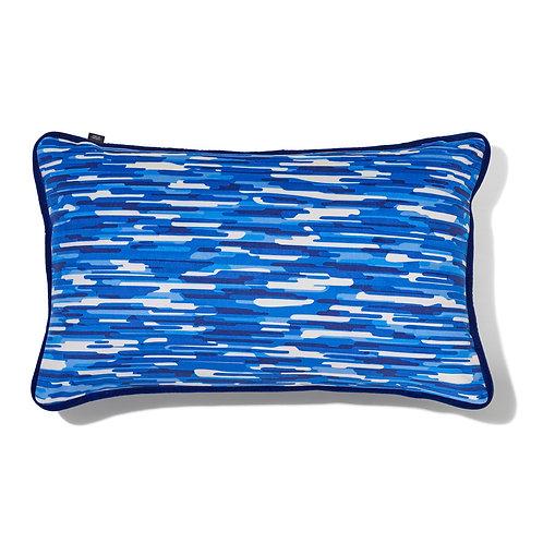 Coussin velours - Moiré bleu