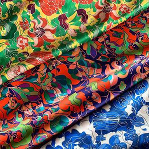 Collection de tissus floraux en velours