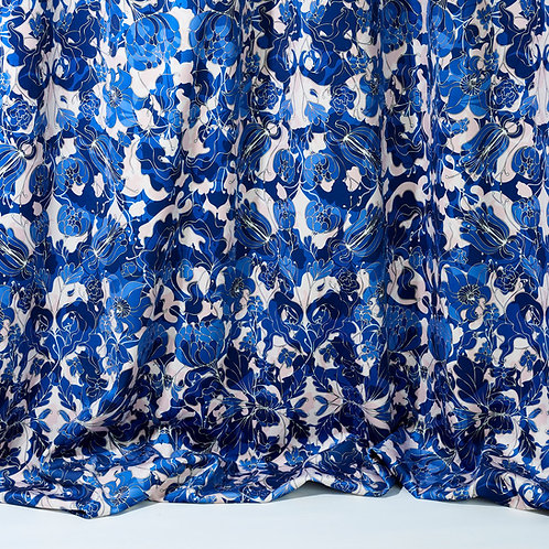 Tissus velours - Au Jardin bleu