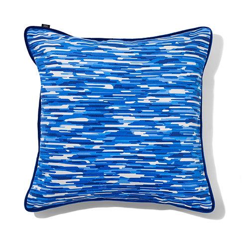 Grand coussin - Moiré bleu