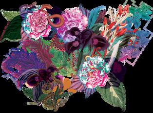 Décor panoramique floral