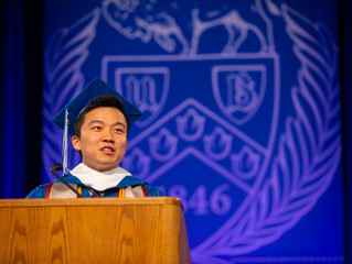 Moses speaks at Commencement