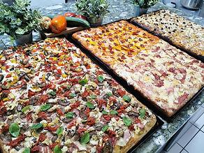 pizza teglia, reine des vitrines
