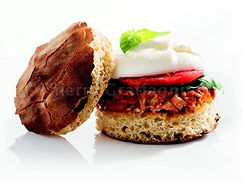 Burger à la romaine osso bucco et burrata
