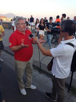 A Naples avec la télévision italienn