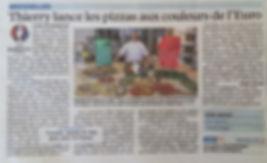 Article du Parisien Thierry Graffagnino lance les pizzas aux couleurs de l'Euro