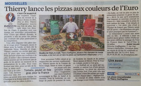 LES PIZZAS AUX COULEURS DE L'EURO