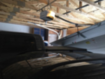garage door fall off after being hit by