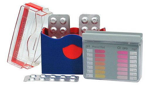 Messgerät mit Tabletten Pooltester  (Chlor & pH-Wert)