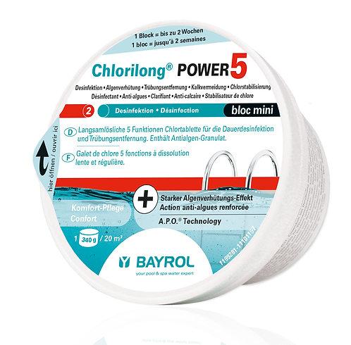 Bayrol Chlorilong Power 5 Mini - Bloc à 340 g