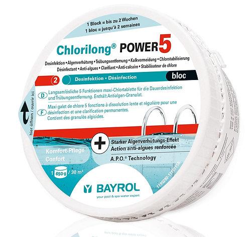 Bayrol Chlorilong Power 5 -  Bloc à 650 g