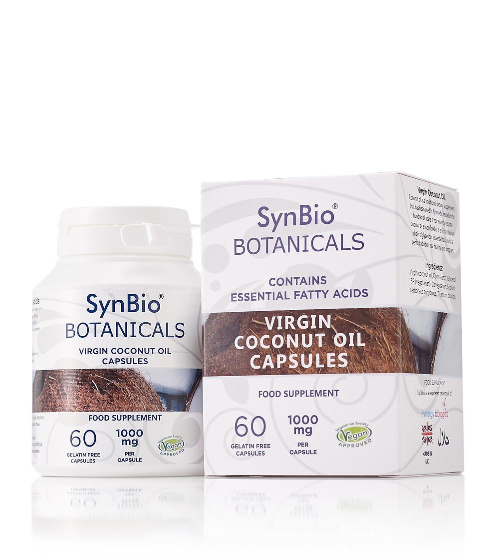 Vegan Certified SynBio® Botanicals Virgin Coconut Oil Capsules