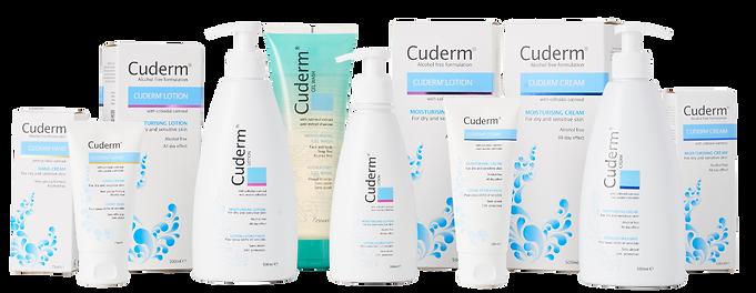Cuderm Alcohol Free Skin Care by Synergy Biologics, Cuderm Cream, Cuderm Lotion, Cuderm Hand Cream, Alcohol Free Cream, Eczema Cream, Halal Skin Care, Vegan