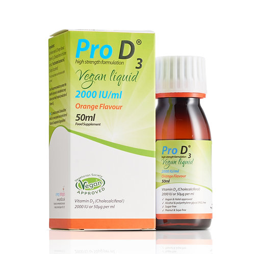 Pro D3 Vegan Liquid 2000 IU/ml (50ml)