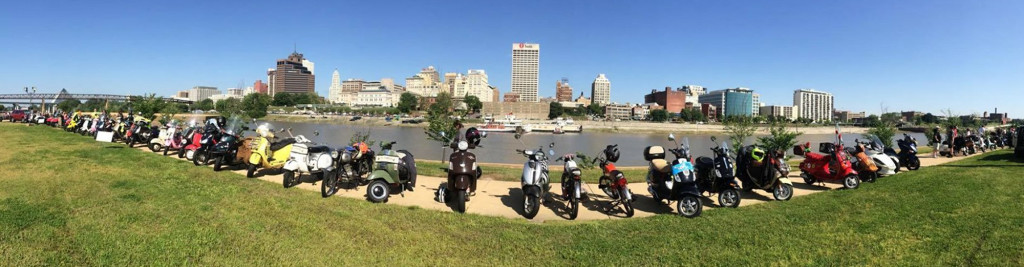 Scooter line up, Mud Island