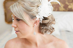 Lovely bride makeup and hair style