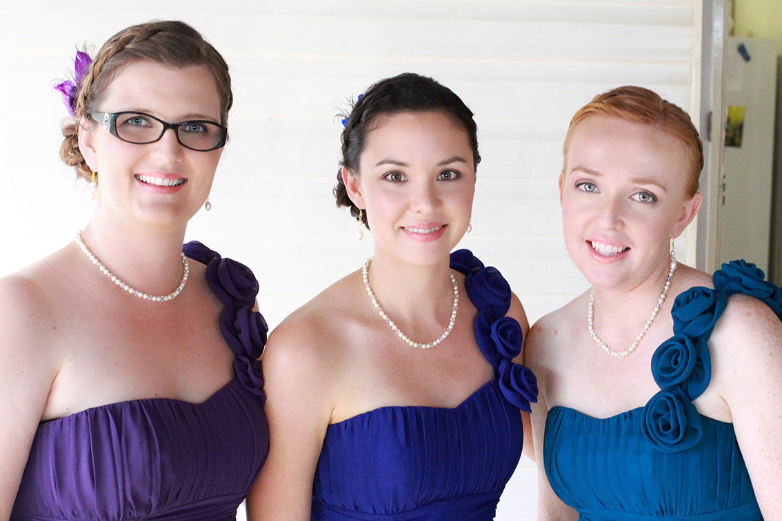 Brisbane hair makeup for bridesmaids
