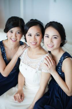 Asian wedding elegant makeup & hair