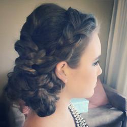 Wedding formal hair style makeup