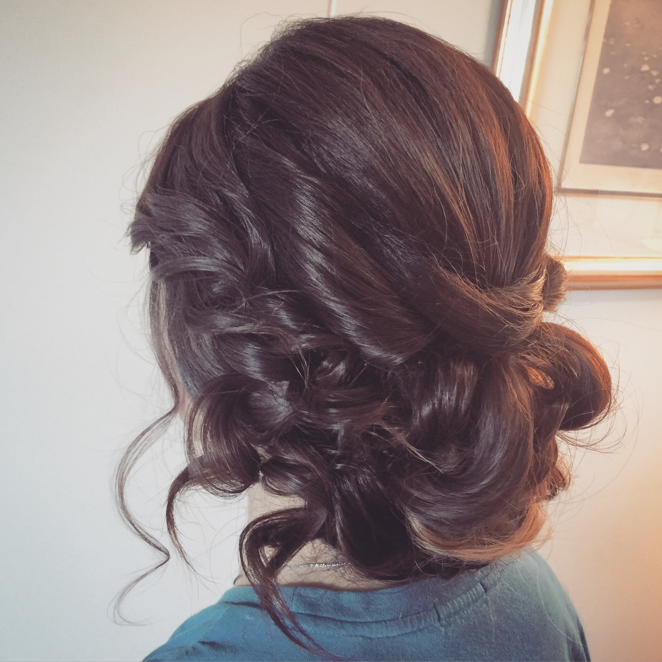 Formal graduation wedding hairstyle
