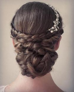 Bohemian braided updo upstyle