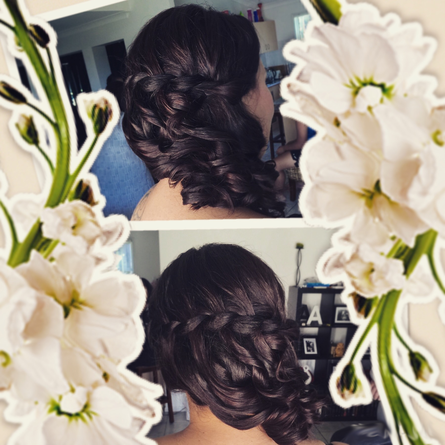 Beach garden wedding hairstylist