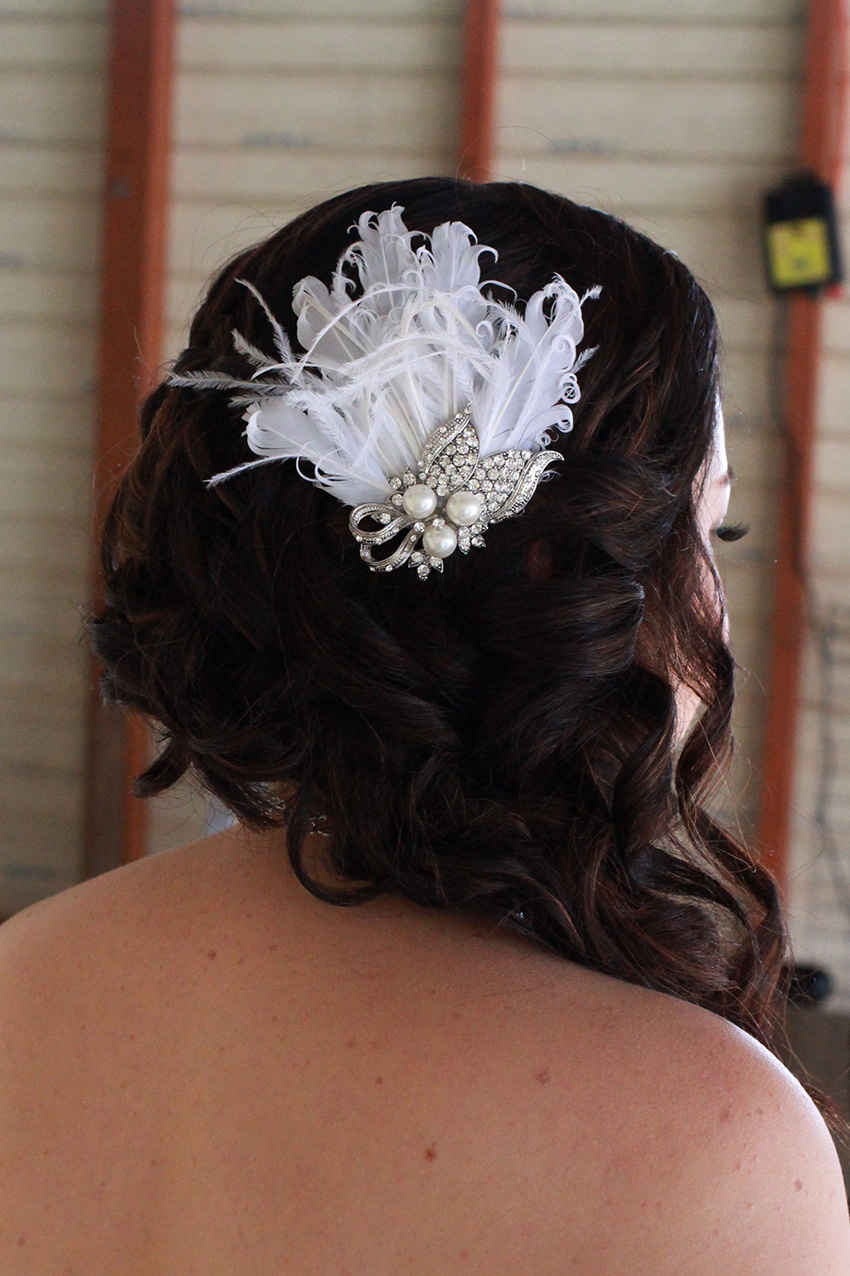 Brisbane bride hair waterfall braid