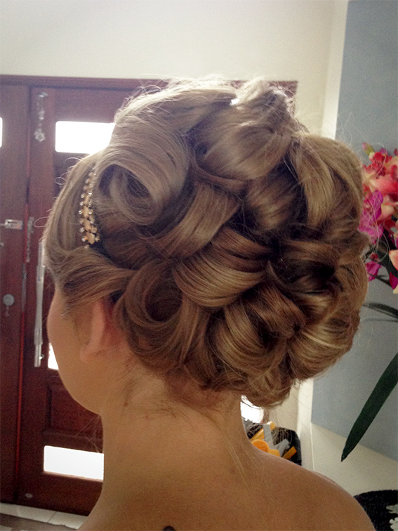 Brisbane Gold Coast Bridal hairstyle