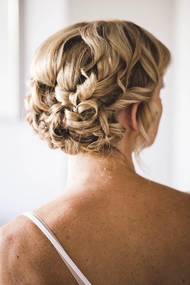 Gold Coast bride hair up style updo