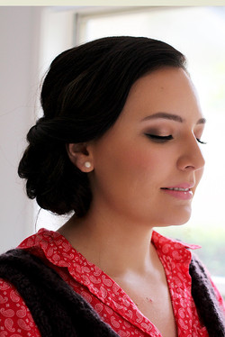 wedding bride trial makeup hairstyle