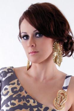 Fashion clothing makeup hair styling