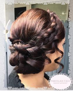 Romantic braid hair up style