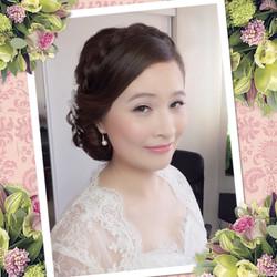 Gold Coast Asian wedding hair makeup