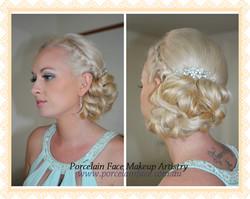 bridesmaid makeup hair up style