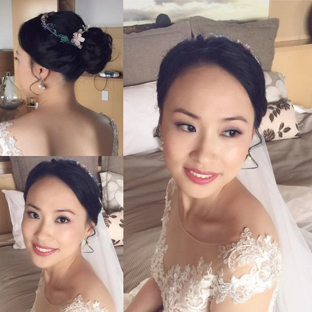 Asian bride hair and makeup artist