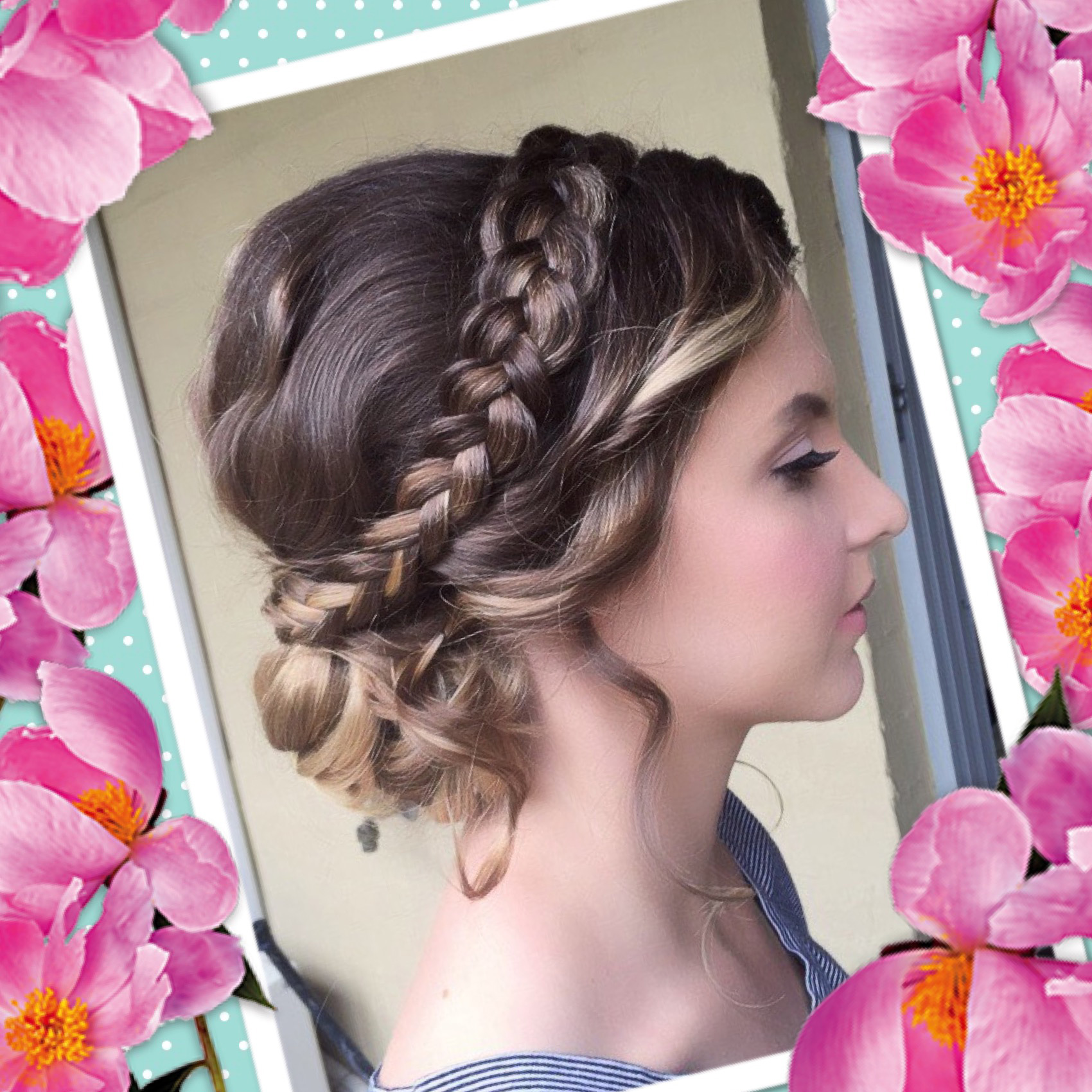 Cute braid updo hair ideas