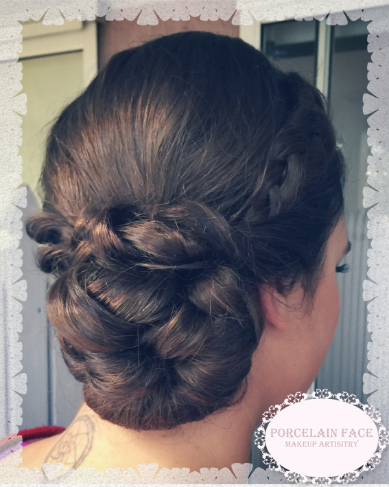 Formal hair bun with braid