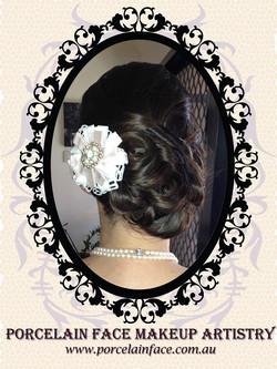 bridal hair asymmetrical chignon